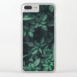 Green Leaves Clear iPhone Case