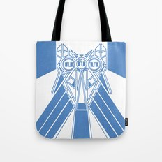 Power Wolf Blue Tote Bag