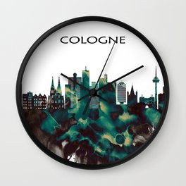 Cologne Skyline Wall Clock