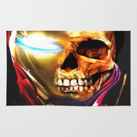 iron man Area & Throw Rugs featuring Iron Man by Isaak_Rodriguez