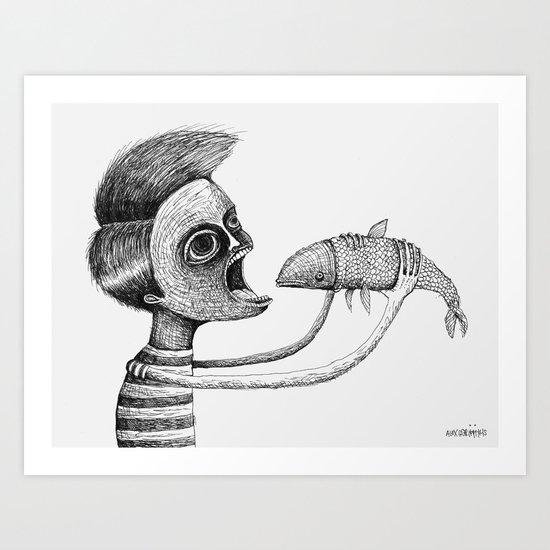 'Hungry' Art Print