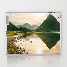 Mountain Reflecting the Lake in Many Glacier  Laptop & iPad Skin