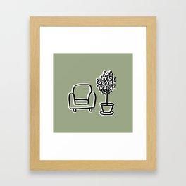The perfect spot Framed Art Print