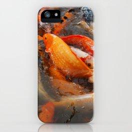Koi Carp Food Frenzy iPhone Case