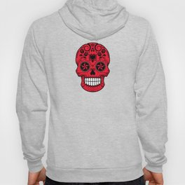 Sugar Skull with Roses and Flag of Albania Hoody