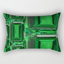 SPRING GREEN EMERALDS ART DECORATIVE  DESIGN Rectangular Pillow
