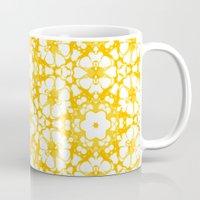 batik Mugs featuring batik floral by clemm