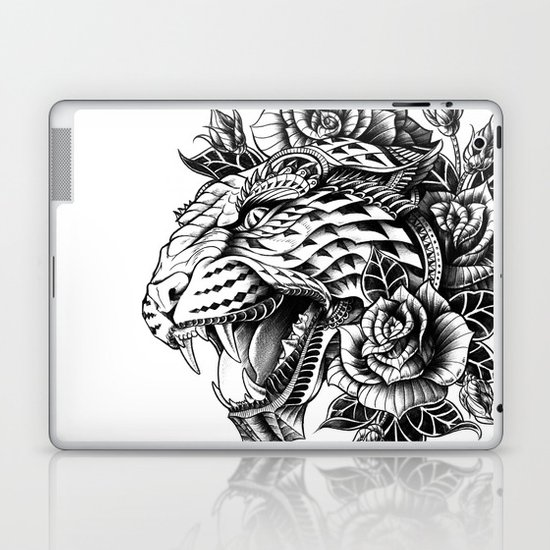 Ornate Leopard Black & White Variant Laptop & iPad Skin