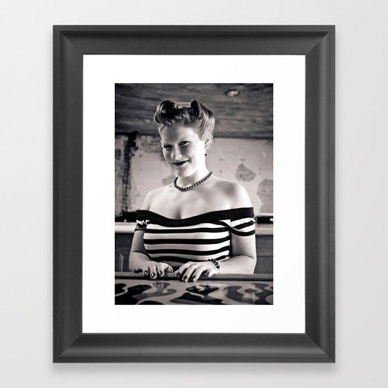 Retro portrait Framed Art Print
