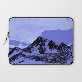 Chugach Mountains - Blue Pop Art Laptop Sleeve