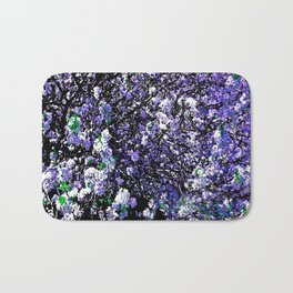 TREES PURPLE AND WHITE Bath Mat