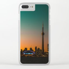 Colorful Toronto Clear iPhone Case