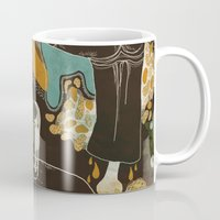 surrealism Mugs featuring surrealism by Judit Varga
