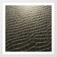 SAND RIPPLES AT LOW TIDE Art Print