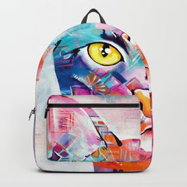 Abstract Cat Portrait - Smoke Backpack