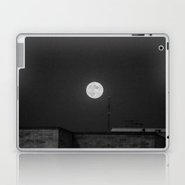 Lunar Eclipse (black and white) Laptop & iPad Skin
