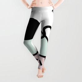 Funky eighties fresh colors graphic memphis design Leggings