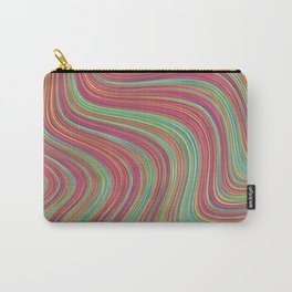 OLEANDER trails of fuschia red grass green abstract Carry-All Pouch