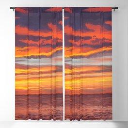 Dreamy Island Sunset Blackout Curtain