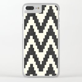 Twine in Black and White Clear iPhone Case