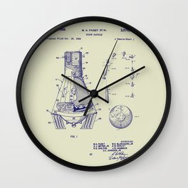 1966 NASA Apollo Mercury Space Capsule Patent Wall Clock