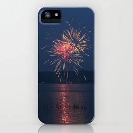 Fireworks Over Lake 15 iPhone Case