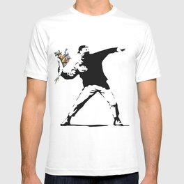 Banksy Flower Thrower T-shirt