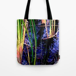Tropical Pond Grasses Tote Bag