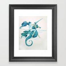 Sea Warrior Framed Art Print