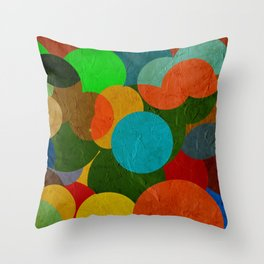 bubbles on paper pattern Throw Pillow