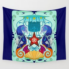 Sea life panoply Wall Tapestry