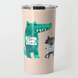 Animal idioms - its a free world Travel Mug