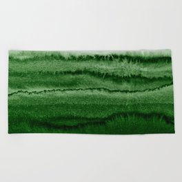 WITHIN THE TIDES FOREST GREEN by Monika Strigel Beach Towel