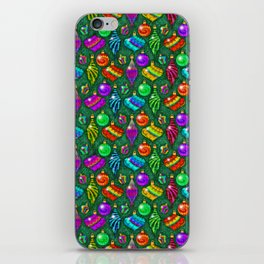 Tie Dye Holiday Ornaments iPhone Skin