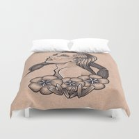 scorpio Duvet Covers featuring Scorpio by Rachel Laughman
