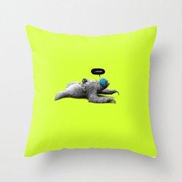 Speed Sloth Throw Pillow