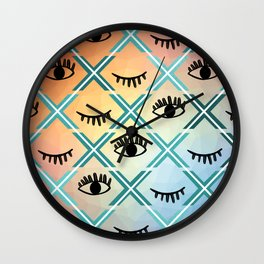 Original Colorful Eyes Design Wall Clock