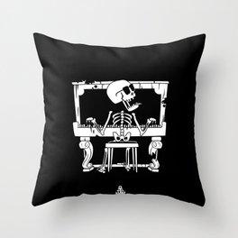 Piano ray Throw Pillow
