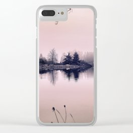 Rose Colored Glasses Clear iPhone Case