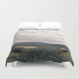 Cypress mountains and forests Duvet Cover