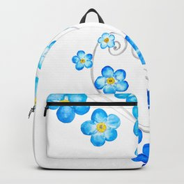 blue forget me not watercolor 2017 Backpack