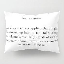 september poem Pillow Sham
