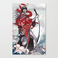 geisha Canvas Prints featuring Geisha by Kent Floris