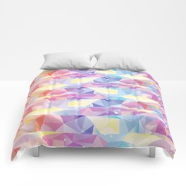 Colorful Geo/Triangles Pattern Comforters