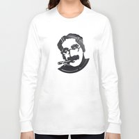 marx Long Sleeve T-shirts featuring Groucho Marx by Alejandro de Antonio Fernández