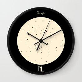 Scorpio - Black Wall Clock