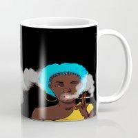 detroit Mugs featuring Detroit by Sasha Dee Richardson