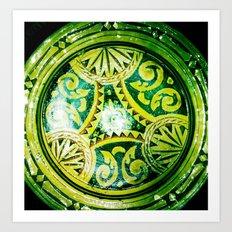 Golden Plate Art Print