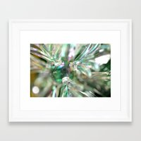 snowflake Framed Art Prints featuring snowflake by Lalina ChristmasShop
