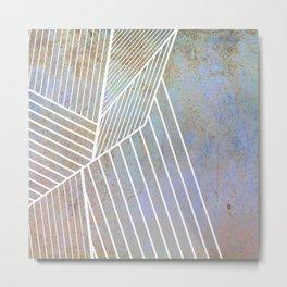 white lines Metal Print